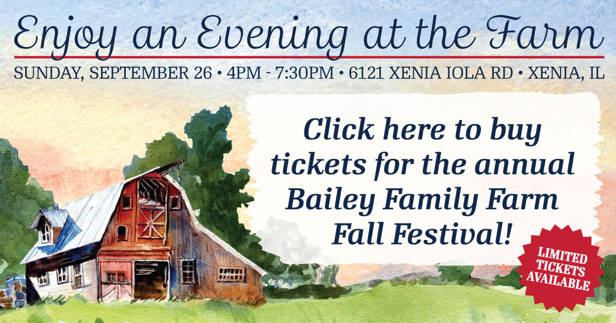 Click here to buy tickets for the annual Bailey Family Farm Fall Festival.